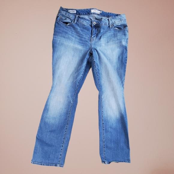 Torrid Jeans Barely Boot Distressed Denim Light